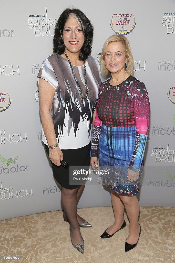 Tammy Haddad (L) and Hilary Rosen attend the Garden Brunch prior to the 102nd White House Correspondents' Association Dinner at the Beall-Washington House on April 30, 2016 in Washington, DC.
