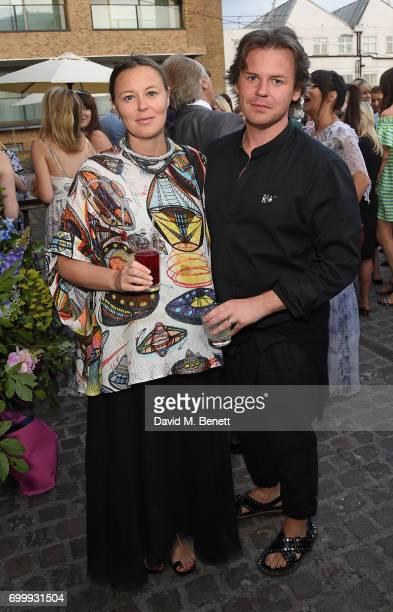 Tammy Kane and Christopher Kane attend British Vogue editor Alexandra Shulman's leaving party at Dock Kitchen on June 22 2017 in London England