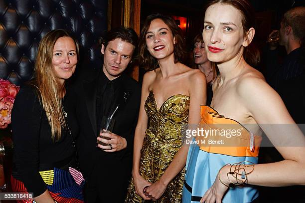 Tammy Kane Christopher Kane Alexa Chung and Roksanda Ilincic attend British Vogue's Centenary birthday party at Tramp on May 23 2016 in London England