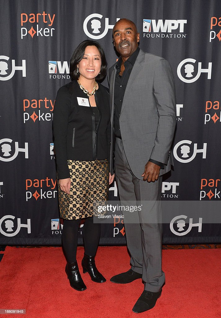Tammy Kang, Director of Pediatric Palliative Care at CHOP and guest attend The Children's Hospital Of Philadelphia & World Poker Tour 'All In' For Kids Poker Tournament at Mandarin Oriental Hotel on November 14, 2013 in New York City.