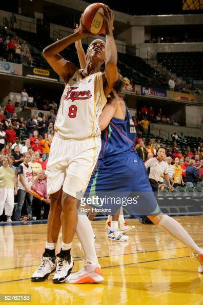 Tammy SuttonBrown of the Indiana Fever shoots over a New York Liberty defender at Conseco Fieldhouse on September 11 2008 in Indianapolis Indiana...