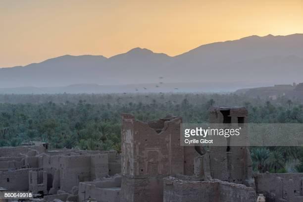 Tamnougalt kasbah and oasis, Draa Valley, Morocco