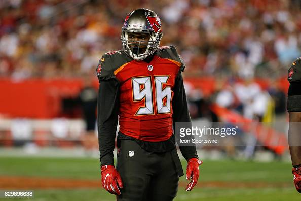 Tampa Bay Buccaneers defensive end Cliff Matthews during the NFL game between the New Orleans Saints and Tampa Bay Buccaneers on December 11 at...