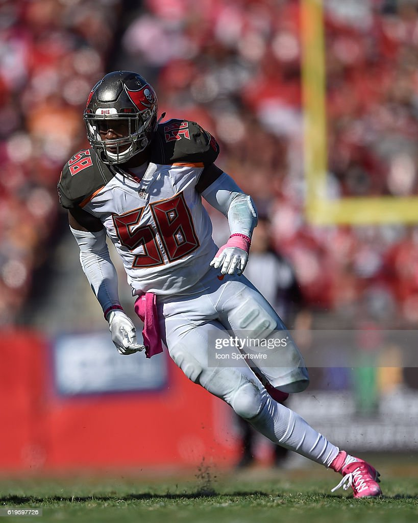 6ab07e97a ... Elite Jersey Tampa Bay Buccaneers Linebacker Kwon Alexander (58) during  an NFL football game between the ...