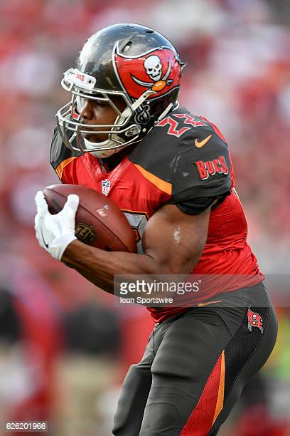 Tampa Bay Buccaneers Running Back Doug Martin during an NFL football game between the Seattle Seahawks and the Tampa Bay Buccaneers on November 27 at...