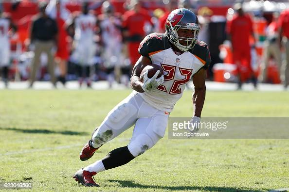 Tampa Bay Buccaneers running back Doug Martin runs the ball during an NFL game between the Chicago Bears and Tampa Bay Buccaneers on November 13 at...