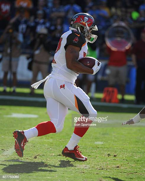 Tampa Bay Buccaneers Running Back Doug Martin runs the ball during the NFL football game between the Tampa Bay Buccaneers and the San Diego Chargers...