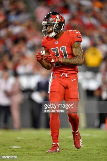 Tampa Bay Buccaneers safety Justin Evans during an NFL football game between the New England Patriots and the Tampa Bay Buccaneers on October 05 at...