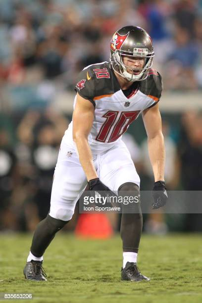 Tampa Bay Buccaneers wide receiver Adam Humphries lines up for a play during the preseason game against the Jacksonville Jaguars on August 17 at...