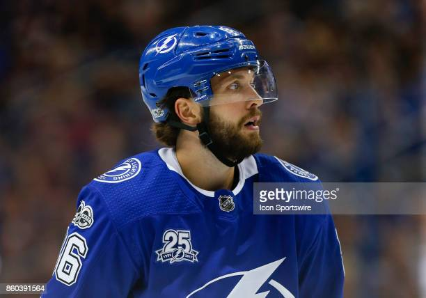 Tampa Bay Lightning right wing Nikita Kucherov in the 1st period of the NHL game between the Washington Capitals and Tampa Bay Lightning on October...