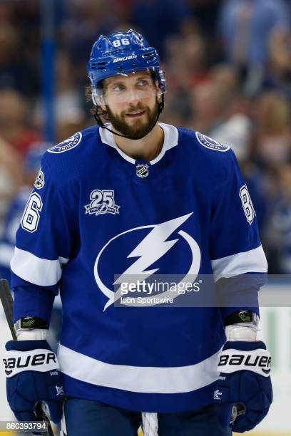 Tampa Bay Lightning right wing Nikita Kucherov in the 2nd period of the NHL game between the Washington Capitals and Tampa Bay Lightning on October...