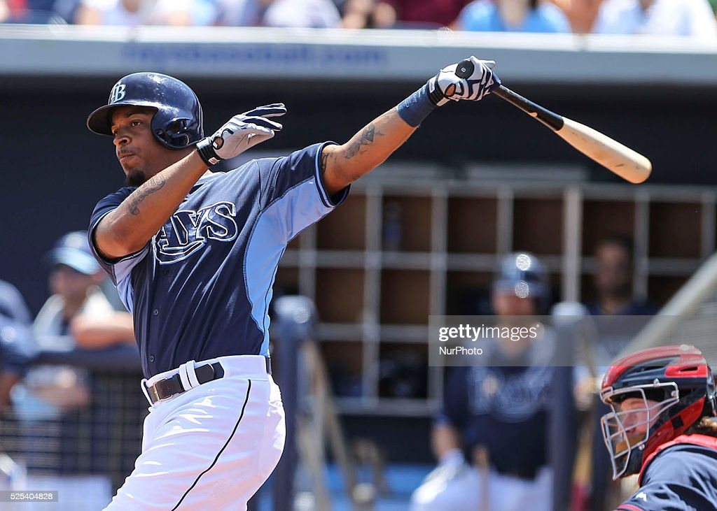 Tampa Bay Rays left fielder Desmond Jennings bats against Boston during the fourth inning of a Spring Training game Saturday March 28 2015 at...