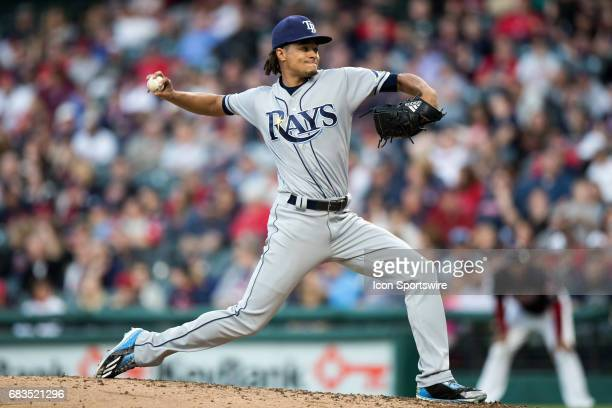 Tampa Bay Rays Starting pitcher Chris Archer delivers a pitch to the plate during the fifth inning of the Major League Baseball game between the...