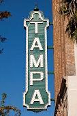 Tampa city landmark sign