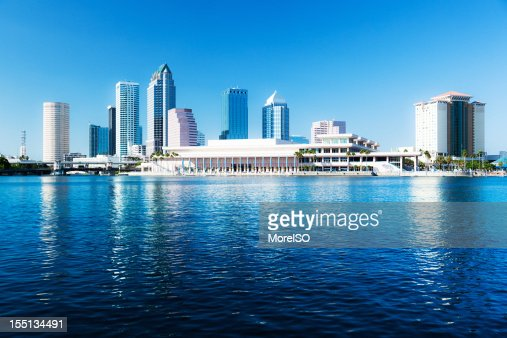 Tampa Downtown Skyline with Skyscraper Reflection