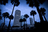 Tampa Florida skyline dusk USA