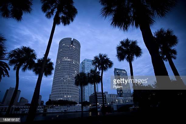 夕暮れの米国フロリダ州タンパの街並み