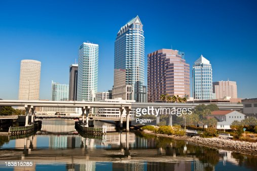 Tampa Florida skyline morning USA