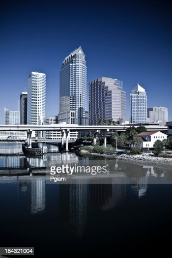 Tampa Florida USA morning skyline