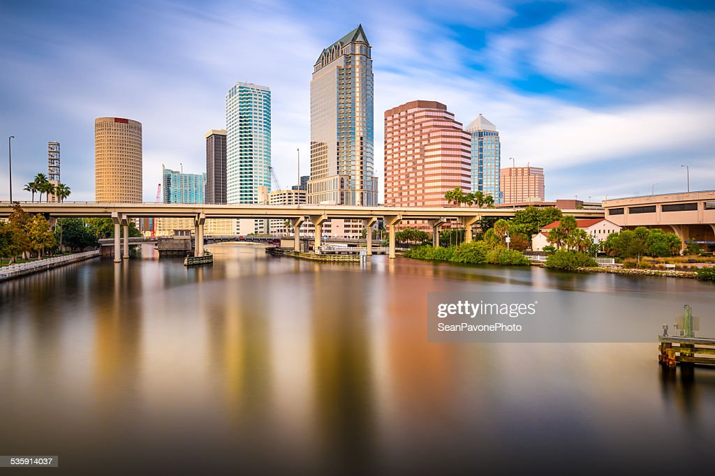 Tampa, Flórida, EUA Horizonte : Foto de stock