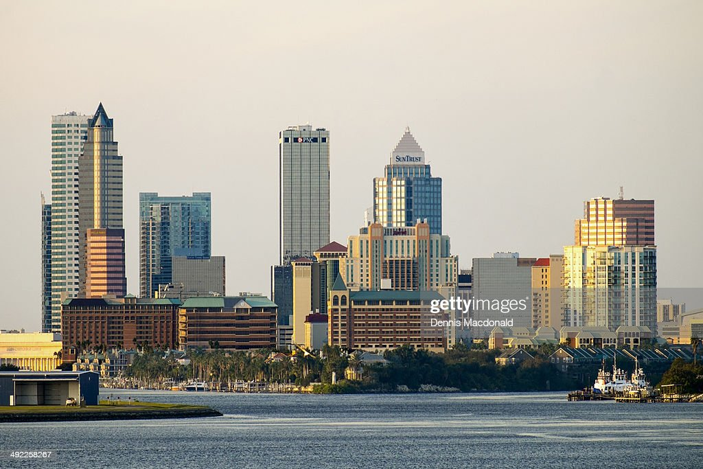 Tampa Skyline Cityscape from Cruise Ship