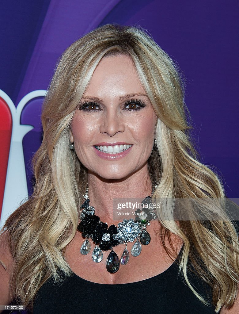 Tamra Barney arrives at the NBCUniversal's '2013 Summer TCA Tour' at The Beverly Hilton Hotel on July 27, 2013 in Beverly Hills, California.