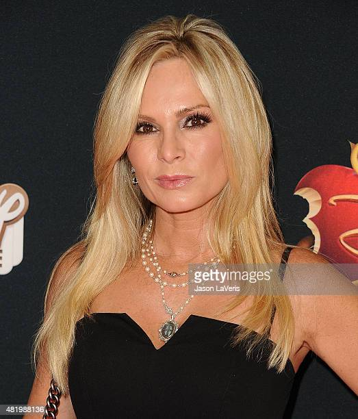 Tamra Judge attends the premiere of 'Descendants' at Walt Disney Studios Main Theater on July 24 2015 in Burbank California