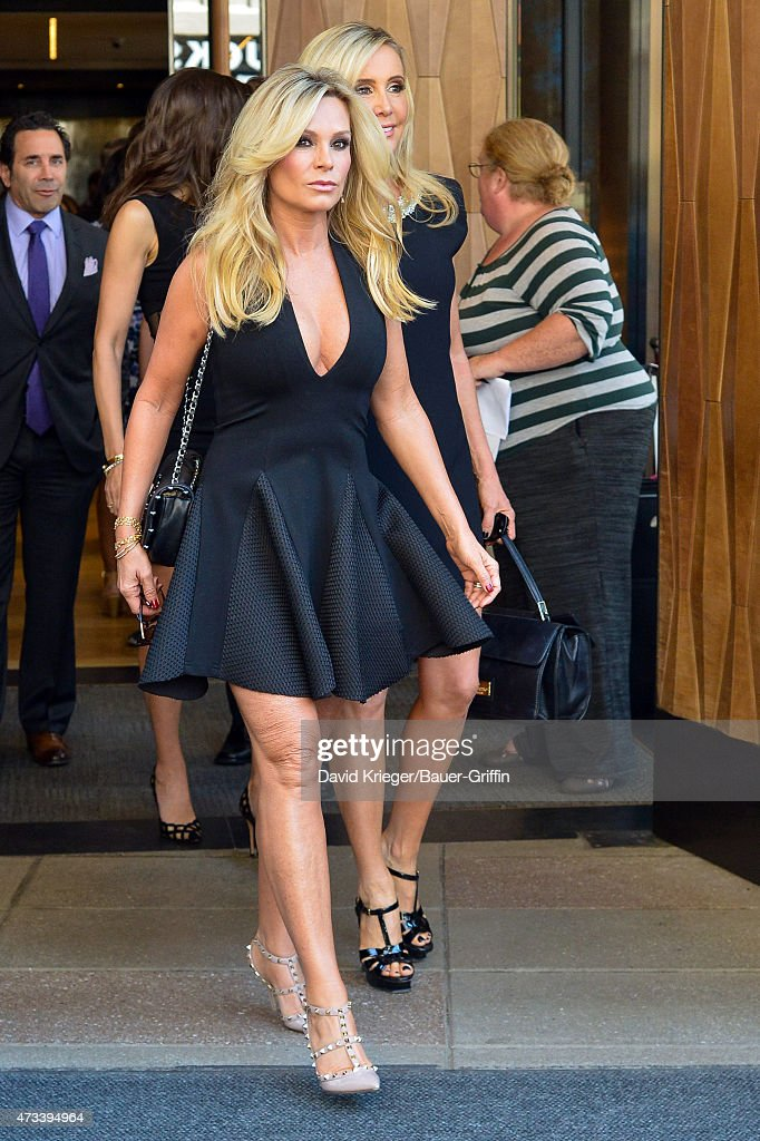 Tamra Judge is seen departing the Jacob Javits Center on May 14, 2015 in New York City.