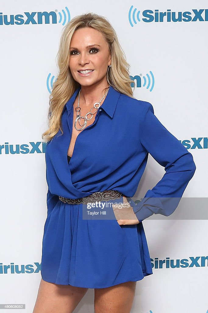 Tamra Judge visits the SiriusXM Studios on July 13, 2015 in New York City.