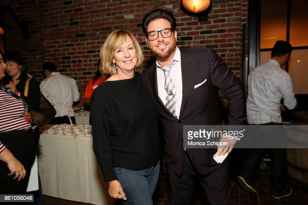 Tamra McCraw and Chef Scott Conant attend Aperitivo hosted by Scott Conant at The Standard High Line on October 13 2017 in New York City
