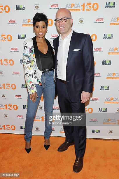 Tamron Hall and ASPCA President CEO Matthew Bershadker attend ASPCA Animal Planet Host Exclusive Premiere Screening Of 'Second Chance Dogs' In Honor...