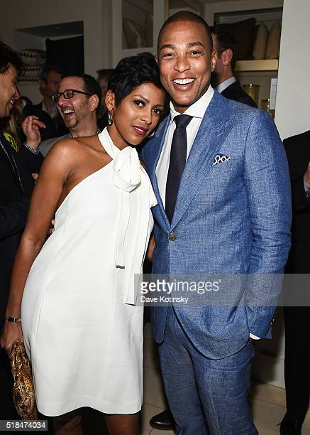 Tamron Hall and Don Lemon attend the NLGJA's 21st Annual New York Benefit on March 31 2016 in New York City