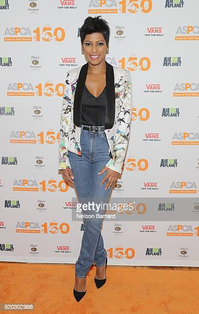 Tamron Hall attends ASPCA Animal Planet Host Exclusive Premiere Screening Of 'Second Chance Dogs' In Honor Of ASPCA's 150th Anniversary on April 10...