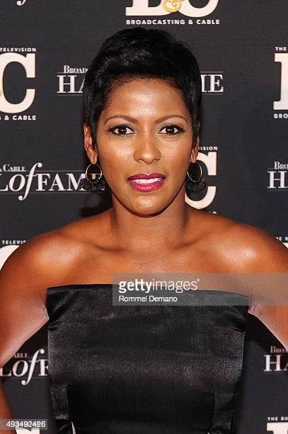 Tamron Hall attends Broadcasting and Cable Hall Of Fame Awards 25th Anniversary Gala at The Waldorf Astoria on October 20 2015 in New York City
