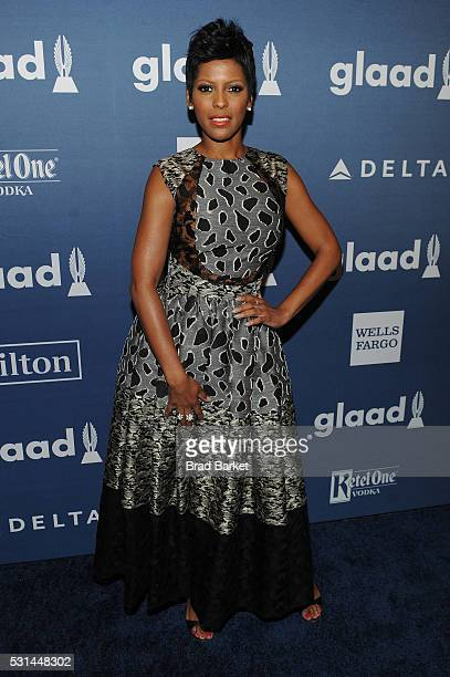 Tamron Hall attends the 27th Annual GLAAD Media Awards hosted by Ketel One Vodka at the WaldorfAstoria on May 14 2016 in New York City