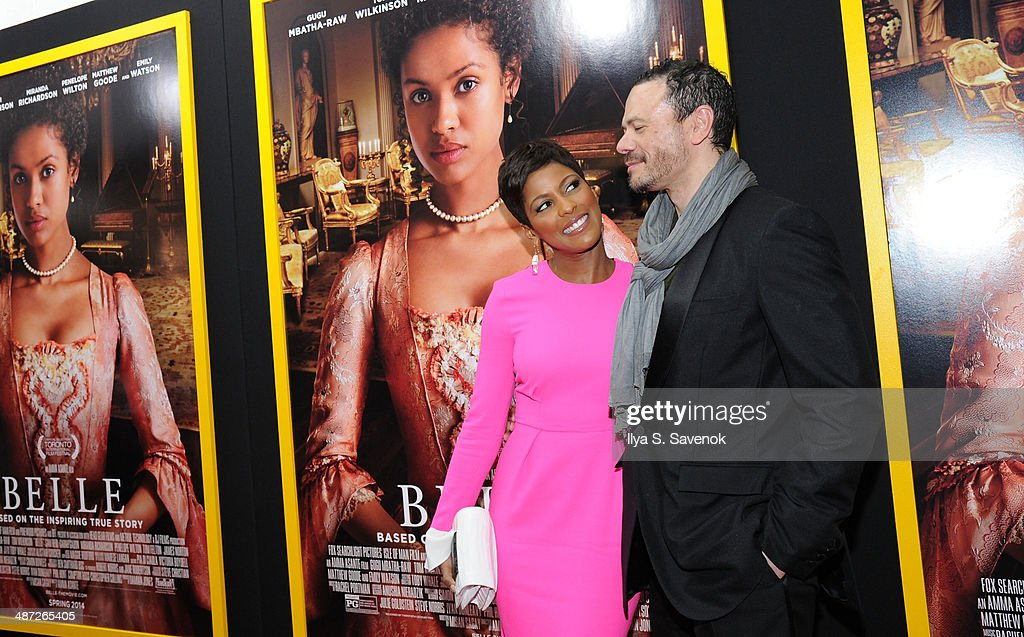 <a gi-track='captionPersonalityLinkClicked' href=/galleries/search?phrase=Tamron+Hall&family=editorial&specificpeople=5933064 ng-click='$event.stopPropagation()'>Tamron Hall</a> (L) attends the 'Belle' premiere at The Paris Theatre on April 28, 2014 in New York City.