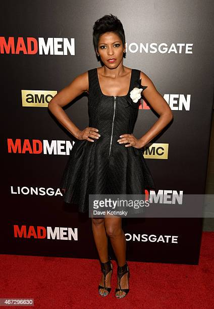 Tamron Hall attends the 'Mad Men' New York Special Screening at The Museum of Modern Art on March 22 2015 in New York City