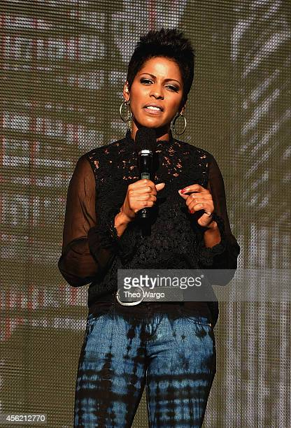 Tamron Hall speaks onstage at the 2014 Global Citizen Festival to end extreme poverty by 2030 in Central Park on September 27 2014 in New York City