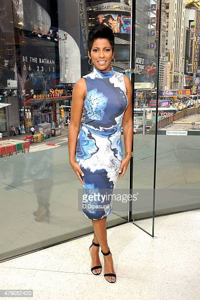 Tamron Hall visits 'Extra' at their New York studios at HM in Times Square on June 30 2015 in New York City