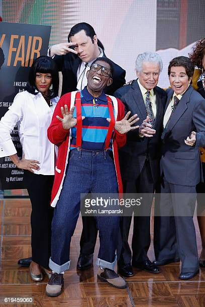 Tamron Hall Willie Geist Al Roker Regis Philbin and Kathie Lee Gifford attend in costume NBC's 'Today' Halloween at Rockefeller Plaza on October 31...