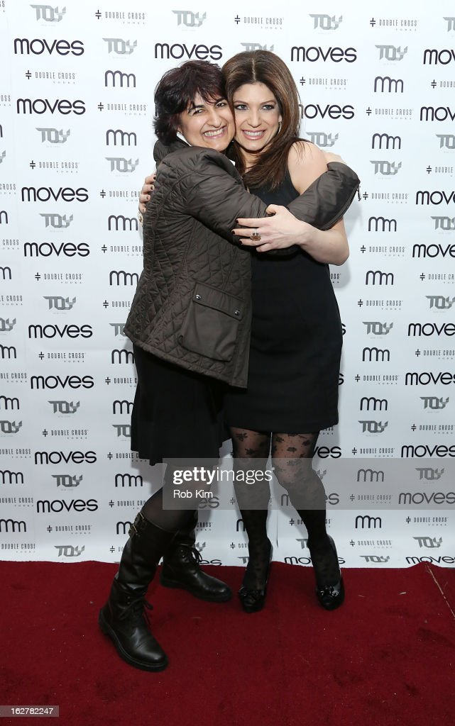 Tamsen Fadal (R) and Moves Publisher Moonah Ellison attend the Moves' 2013 Spring Fashion Issue Mens Cover Party at TOY at Gansevoort Hotel on February 26, 2013 in New York City.