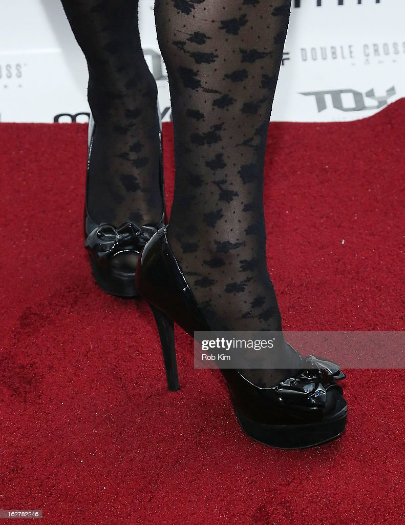 Tamsen Fadal (shoe detail) attends the Moves' 2013 Spring Fashion Issue Mens Cover Party at TOY at Gansevoort Hotel on February 26, 2013 in New York City.