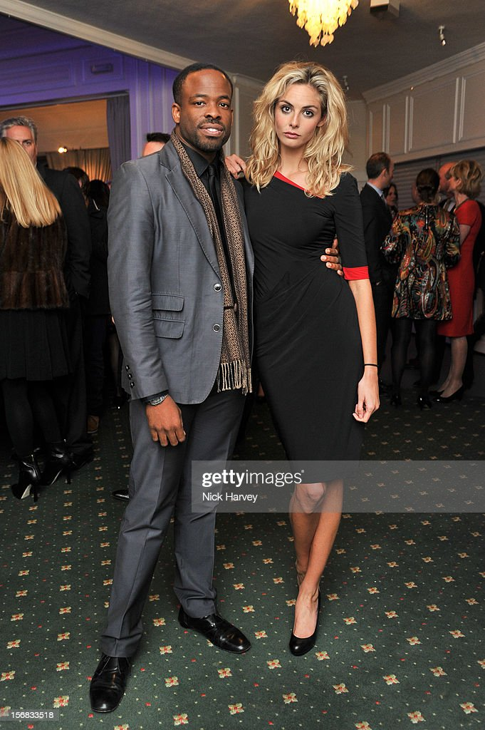 Tamsin Egerton and Guest attend the Zeitz Foundation and ZSL gala at London Zoo on November 22, 2012 in London, England.