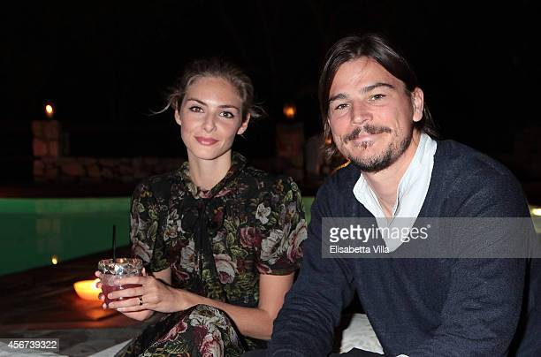 Tamsin Egerton and Josh Hartnett attend the 'Il Pellicano Travel Guide' cocktail launch at the Hotel Il Pellicano on October 4 2014 in Porto Ercole...