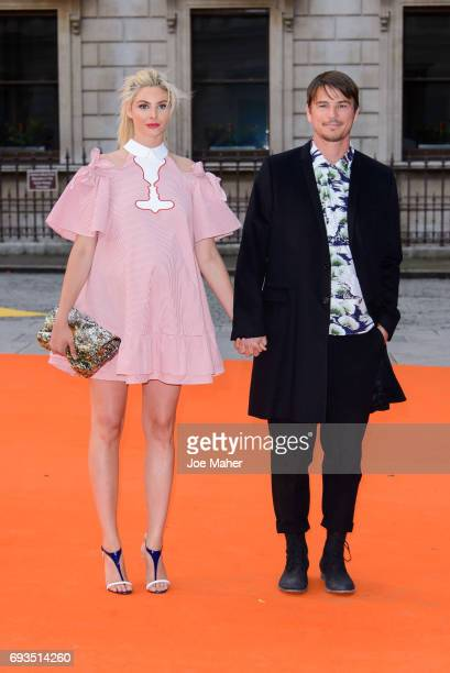 Tamsin Egerton and Josh Hartnett attend the preview party for the Royal Academy Summer Exhibition at Royal Academy of Arts on June 7 2017 in London...