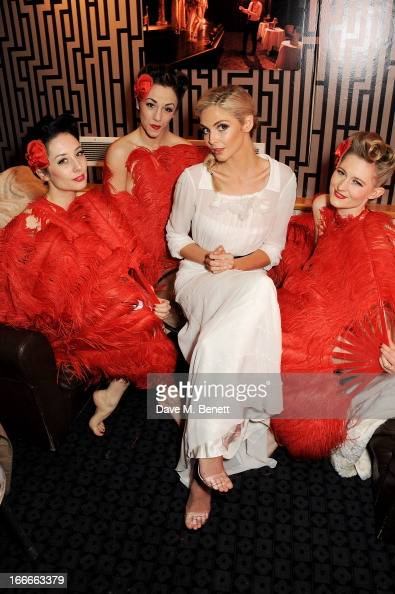 Tamsin Egerton and models pose at the UK Premiere of 'The Look Of Love' at the Curzon Soho on April 15 2013 in London England