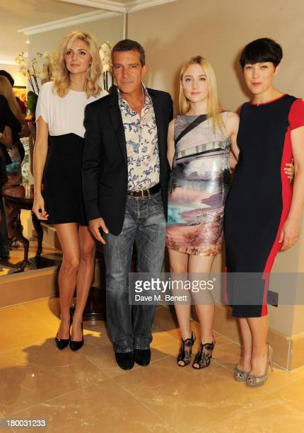 Tamsin Egerton Antonio Banderas Saoirse Ronan and Olivia Williams attend the UK Premiere of 'Justin and the Knights of Valour' at The May Fair Hotel...