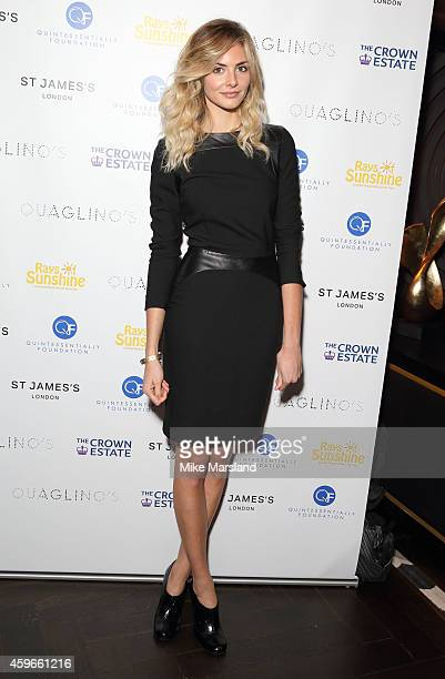 Tamsin Egerton attends the after party for the Fayre of St James Christmas Concert on November 27 2014 in London England