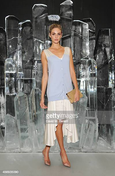 Tamsin Egerton attends the dinner hosted by Sandra Choi Creative Director of Jimmy Choo to unveil Jimmy Choo's new VICES collection and installation...