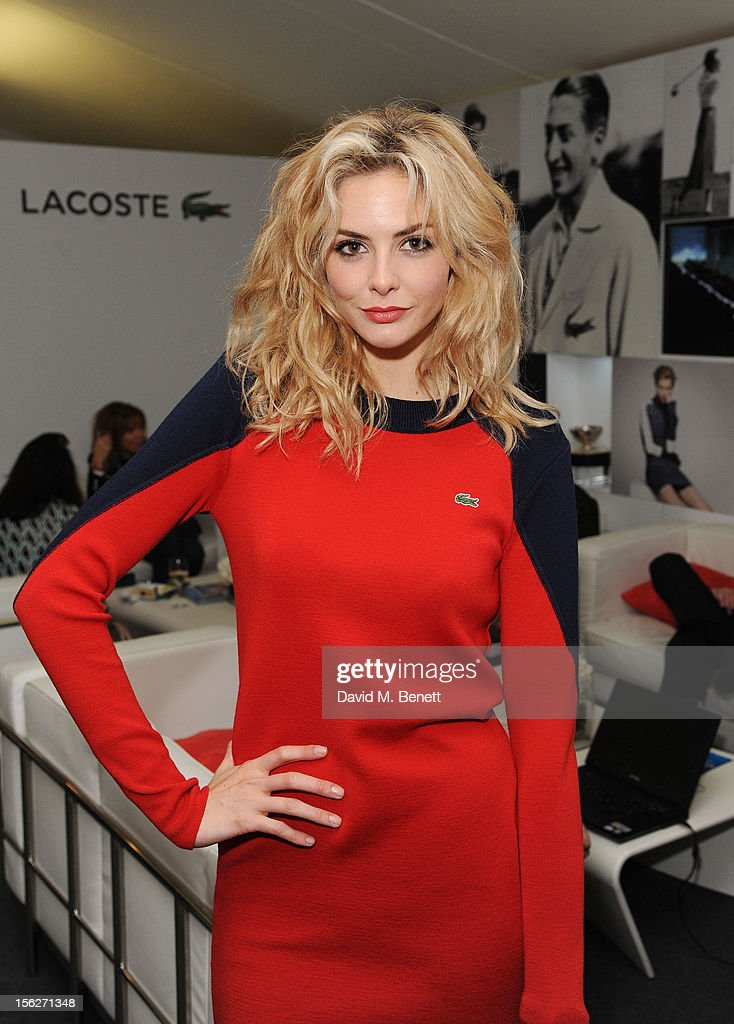 Tamsin Egerton attends the Lacoste VIP lounge during day eight of the ATP World Finals at the O2 Arena on November 12, 2012 in London, England.